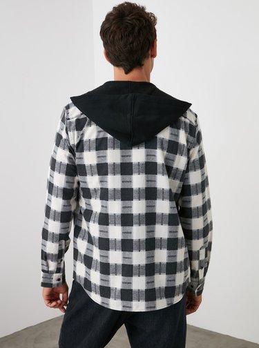 Camasi casual pentru barbati Trendyol - negru, alb