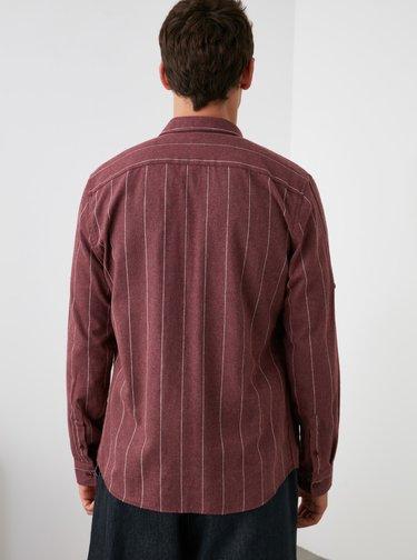 Camasi casual pentru barbati Trendyol - bordo