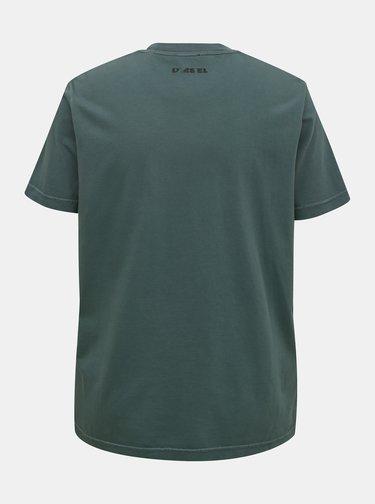 Tmavozelené pánske tričko Diesel