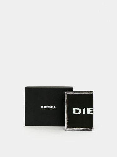 Čierna dámska kožená peňaženka Diesel