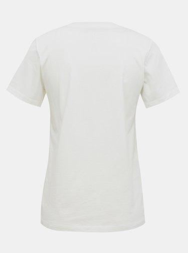 Biele dámske tričko Converse