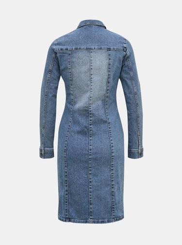 Modré džínové košilové šaty VERO MODA
