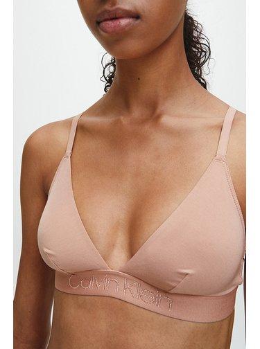Calvin Klein béžová podprsenka Unlined Triangle