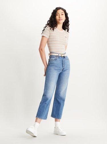 Krémovo-růžové dámské pruhované tričko Levi's®
