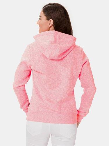 Růžová dámská mikina s kapucí SAM 73