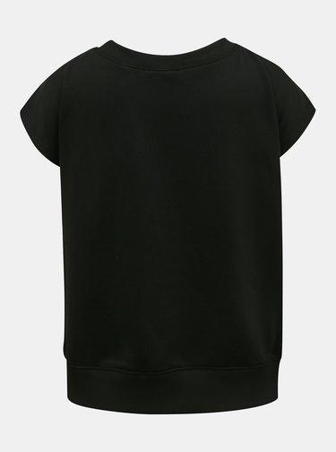 Černé dámské tričko s detaily v dekoltu Diesel