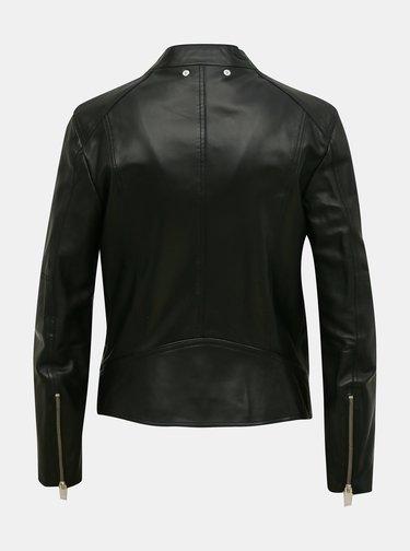 Černá dámská kožená bunda Diesel