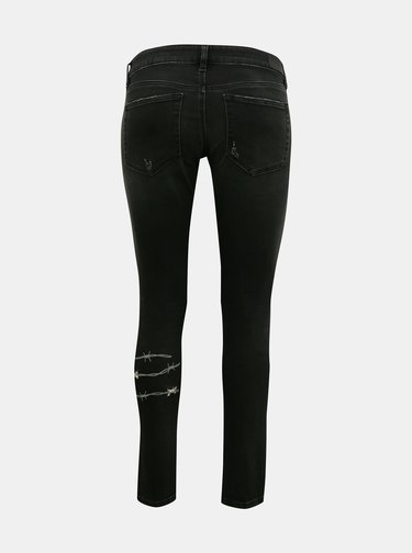 Černé dámské skinny fit džíny s potiskem Diesel
