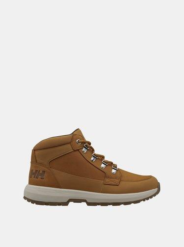 Hnědé pánské kožené voděodolné boty HELLY HANSEN