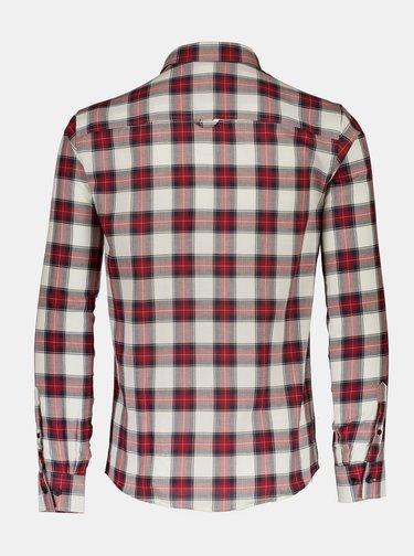Šedo-červená kockovaná košeľa Shine Original