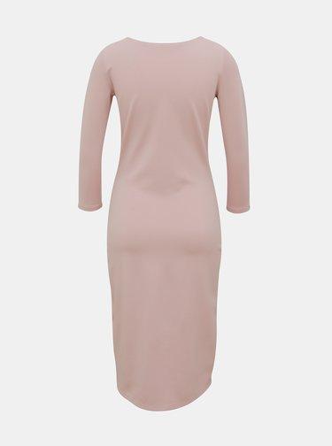 Svetloružové púzdrové basic šaty ZOOT Baseline Berit