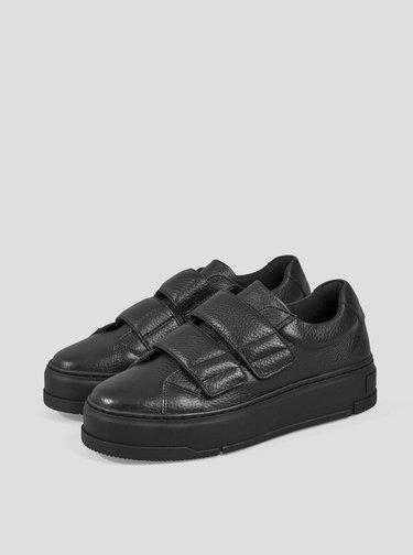 Čierne dámske kožené tenisky Vagabond