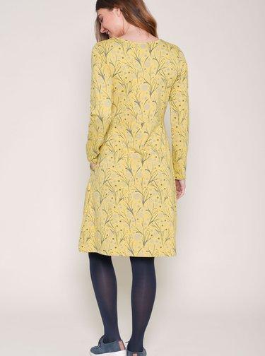 Žlté vzorované šaty Brakeburn