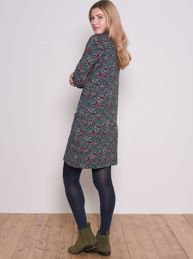 Šedo-modré květované šaty Brakeburn