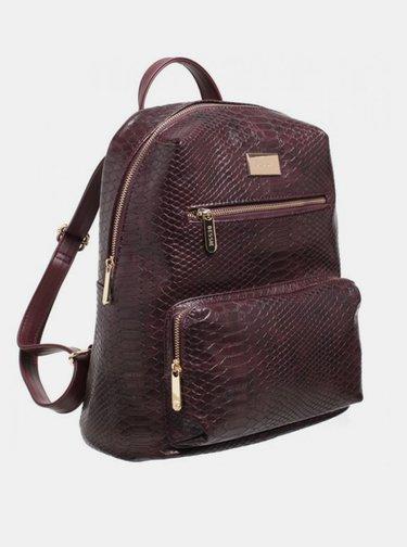 Vínový batoh s krokodýlím vzorem Bessie London