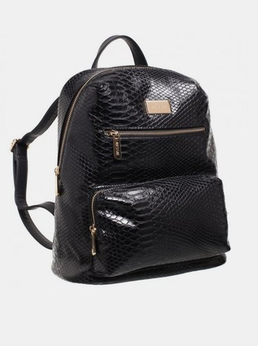 Černý batoh s krokodýlím vzorem Bessie London
