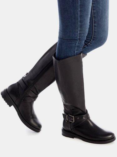 Čierne dámske čižmy Xti