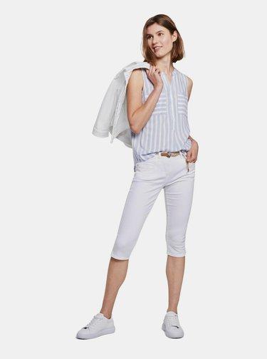 Biele dámske 3/4 nohavice Tom Tailor