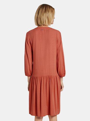 Tehlové dámske šaty Tom Tailor Denim