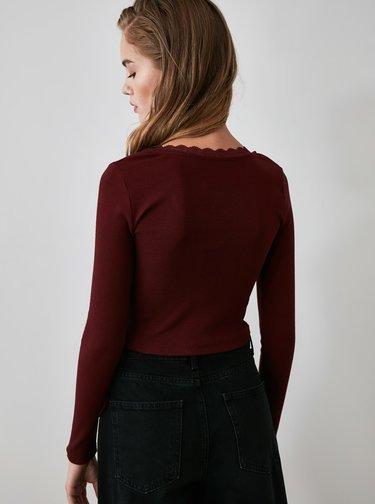 Bluze pentru femei Trendyol - bordo
