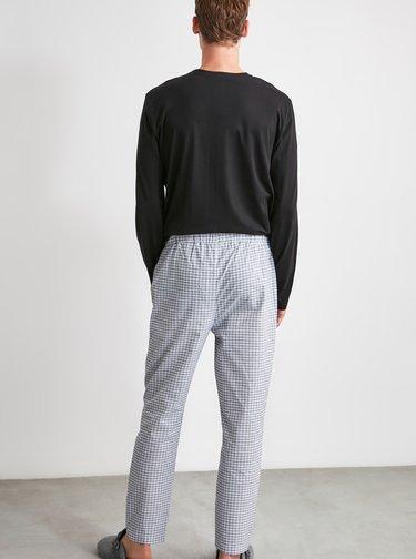Šedé pánské kostkované pyžamové kalhoty Trendyol