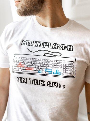 Biele pánske tričko ZOOT Original Devadesátkový multiplayer