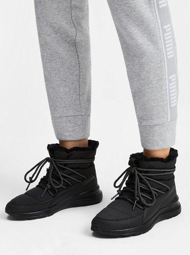 Čierne dámske zimné topánky Puma Adela