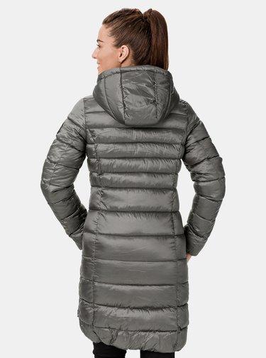 Šedý dámsky zimný prešívaný kabát SAM 73