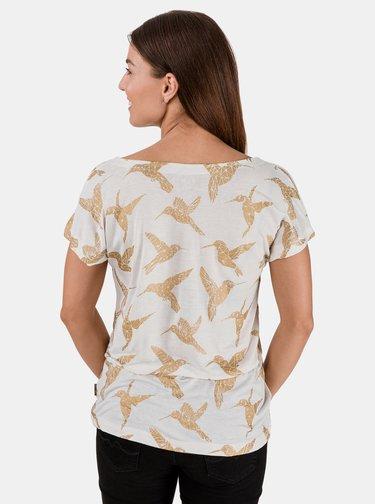 Krémové dámské tričko SAM 73
