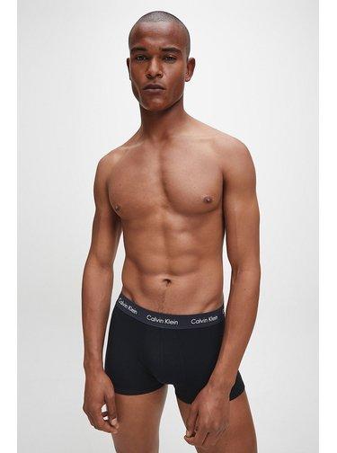 Calvin Klein černý 3 pack boxerek Low Rise Trunk 3PK Black w. Black/ Coral Lip/ Phantom