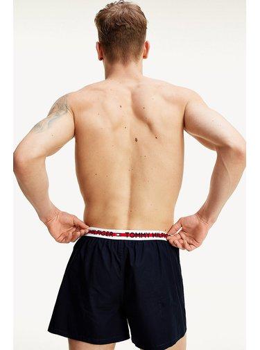 Tommy Hilfiger tmavě modré trenýrky Woven Boxer