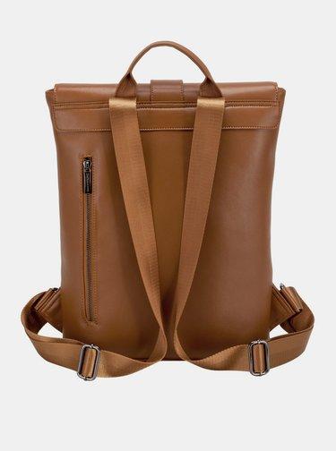Hnědý kožený batoh Smith & Canova