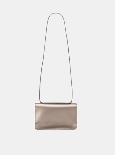 Crossbody kabelka v zlatej farbe Claudia Canova