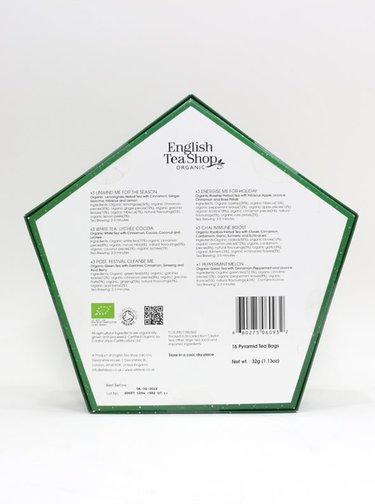 Zelená vianočná kolekcia čajov English Tea Shop