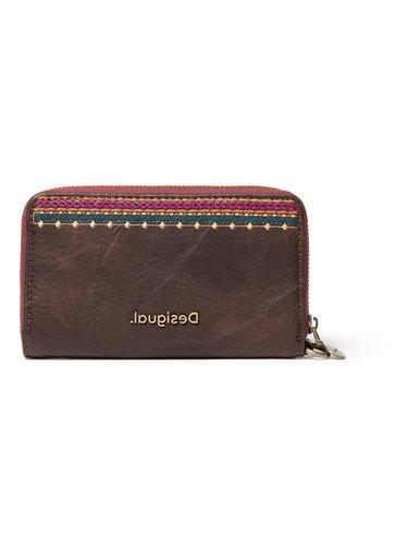 Desigual antracitová peněženka Mone Astoria Mini Zip