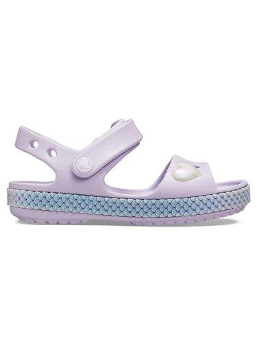 Crocs levandulové dívčí sandálky Crocband Imagination Sandal