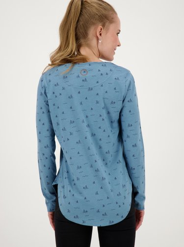 Modré dámske vzorované tričko Alife and Kickin