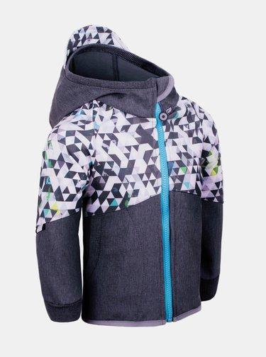 Šedá klučičí softshellová bunda Unuo