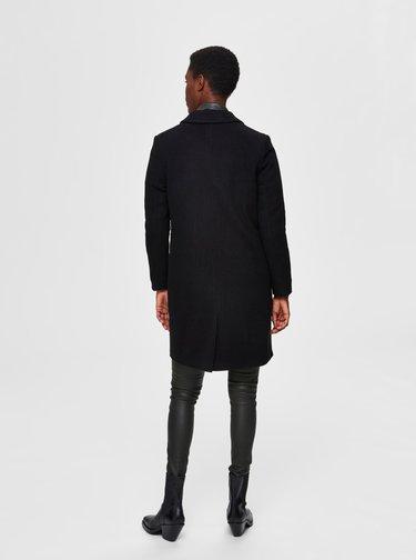Čierny vlnený kabát Selected Femme Elina