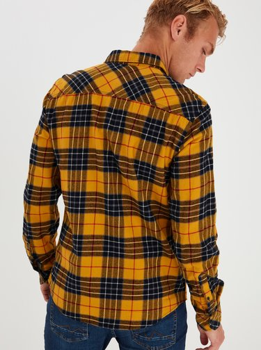 Žlutá kostkovaná košile Blend