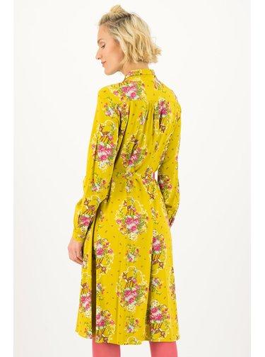 Blutsgeschwister žluté šaty Oh My Deer
