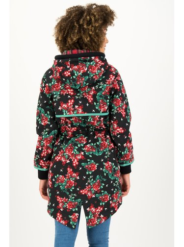 Blutsgeschwister květinový kabát Black Be In Me