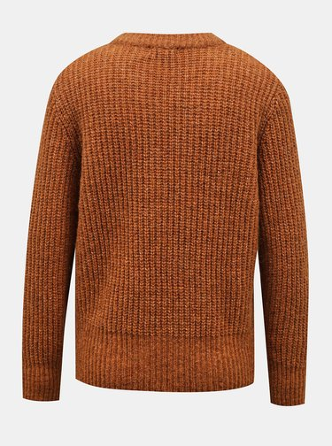 Hnedý sveter Jacqueline de Yong Tessa