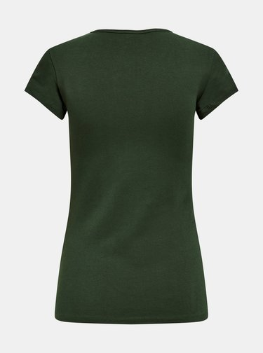 Tmavě zelené basic tričko ONLY