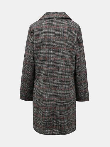 Tmavě šedý dámský kostkovaný zimní kabát ZOOT Gabrielle