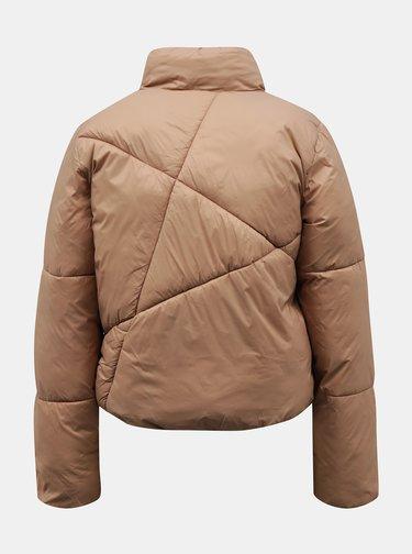 Béžová zimní prošívaná bunda Jacqueline de Yong Timber