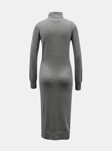 Šedé svetrové šaty ZOOT Susie