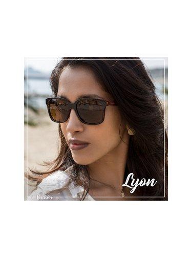 Verdster Lyon dřevěné sluneční brýle želvovinové