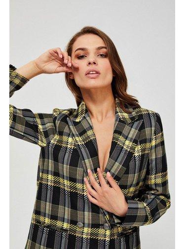 Moodo stylový kostkovaný kabát