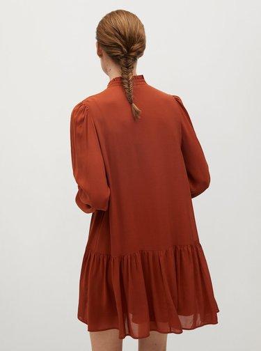 Hnědé šaty Mango